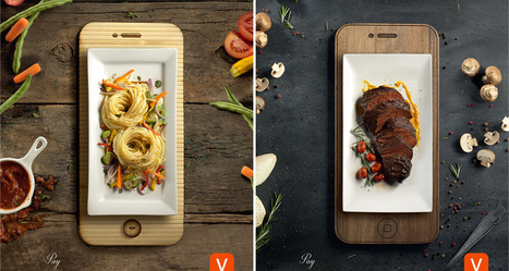 Dinner Plates Resemble Mobile Devices In These Well-Crafted Ads By Aval Pay App | DigitalSynopsis.com | Scoop.it