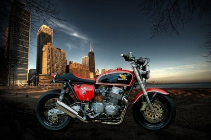 Inazuma café racer: Readers' rides: Roger's CB 750 Monster | custom cafe racer | Scoop.it