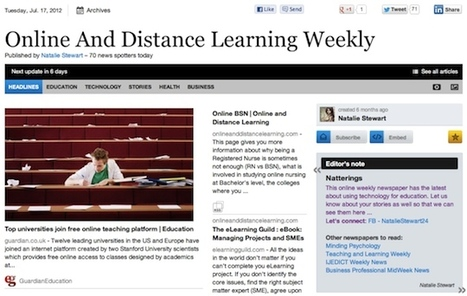 "July 17 - ""Online And Distance Learning Weekly"" is out 