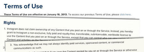 What Instagram's New Terms of Service Mean for You | Internet 2013 | Scoop.it