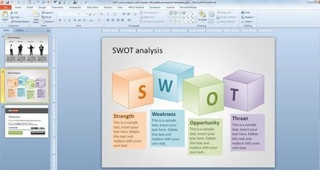 SWOT PowerPoint Template with Human Silhouette | BUSINESS DEVELOPMENT | Scoop.it