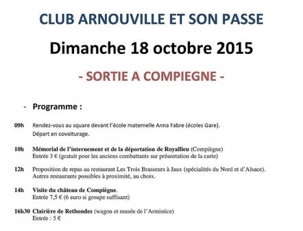 Une sortie du club d'histoire à Compiègne | Arnouville et son Passé: Association sur l'histoire de la ville | Scoop.it