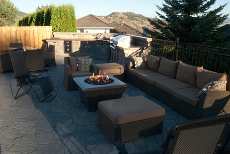 Danilo Caron, Kamloops, British Columbia, Canada, Outdoor Kitchen 1 - Concrete Living + | Outdoor Living | Scoop.it