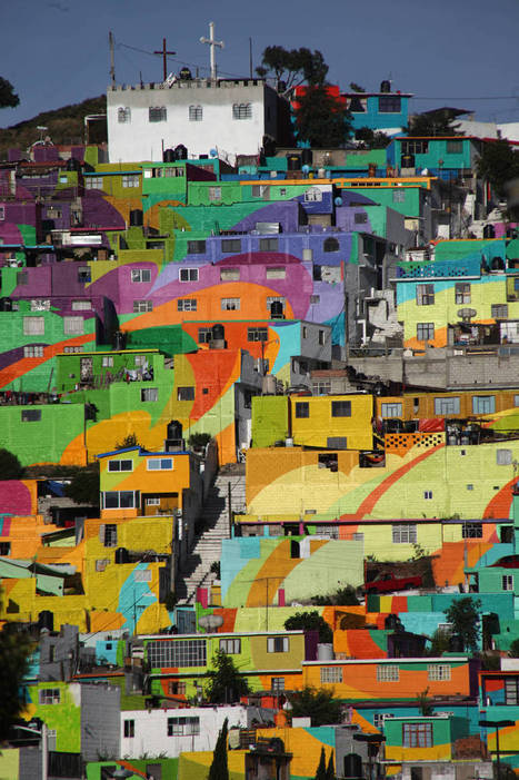 Gigantic Street Art Painting on 200 Houses in Mexico | security-mail | Scoop.it