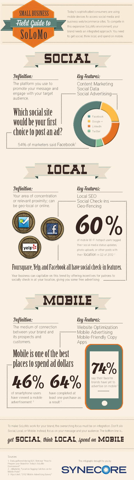 Small Business Field Guide to SoLoMo (Infographic) | visualizing social media | Scoop.it