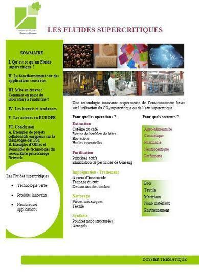 IFS (Innovation Fluides Supercritiques) - Centre de ressources sur les fluides supercritique | fluides supercritiques | Scoop.it