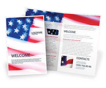 Flag of the United States of America Brochure Template | Brochure Templates | Scoop.it