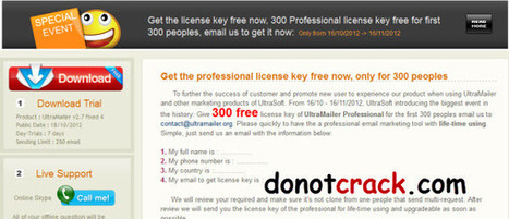 [Giveaway] 300 free license key UltraMailer Professional v. 2.7 fix 4 | Free license for you | Bulk Mail | Scoop.it