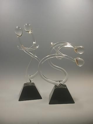 Art Verrier - Sensualité de la danse en verre filé - Rhénald LECOMTE, verrier à la flamme - La Gacilly - Village d' Arts - Morbihan. | Art verrier - Courbes de verre et territoires d'expression | Scoop.it