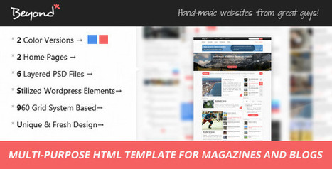 Beyond – Multi-purpose HTML Template (Site Templates)   Site Templates Download   Scoop.it