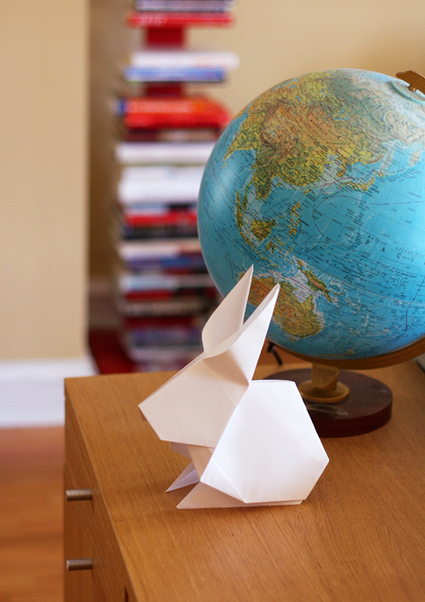 Make an origami bunny for your Easter table   How About Orange   Idées de DIY   Scoop.it