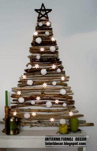 International decor: How to make a Christmas tree, 15 Unique Christmas trees   International Decorating ideas   Scoop.it