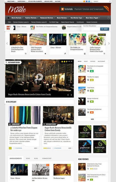 10 Great Wordpress magazine Themes For 2013   Social media   Scoop.it