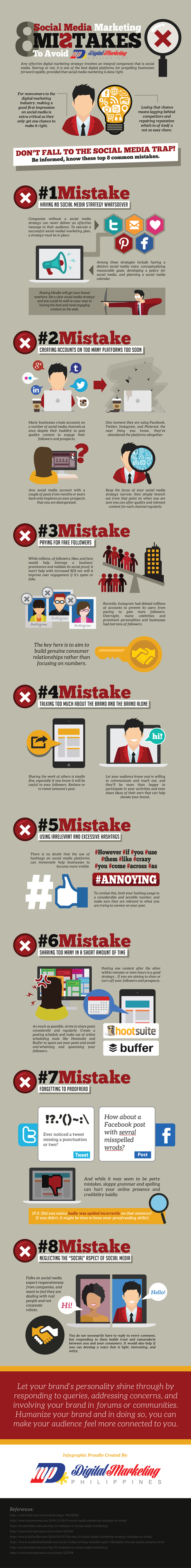 8 Social Media Mistakes to Avoid #INFOGRAPHIC | Digital boards | Scoop.it