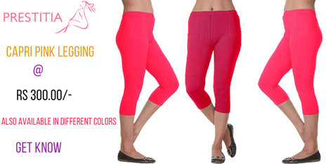 Prestitia - Capri Cotton Lycra legging | Shopping Online in india padded Bra and panty | Scoop.it