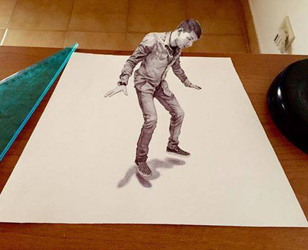 Cool 3D drawing | I didn't know it was impossible.. and I did it :-) - No sabia que era imposible.. y lo hice :-) | Scoop.it