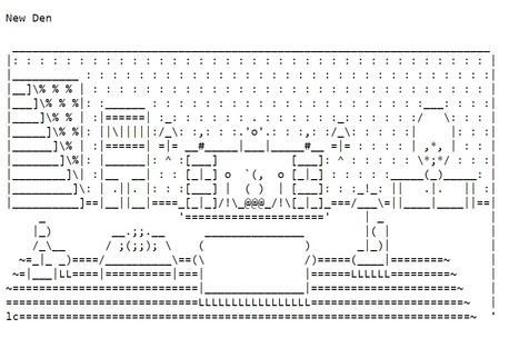 ASCII Art—Buildings and Related—Dens | ASCII Art | Scoop.it