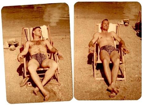Vintage Beefcake Sunning Himself In Leopard-Print Trunks | Sex History | Scoop.it
