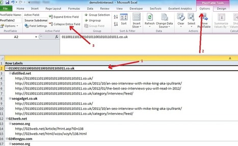 Competitive Link Analysis: Link Intersect in Excel | Time to Learn | Scoop.it