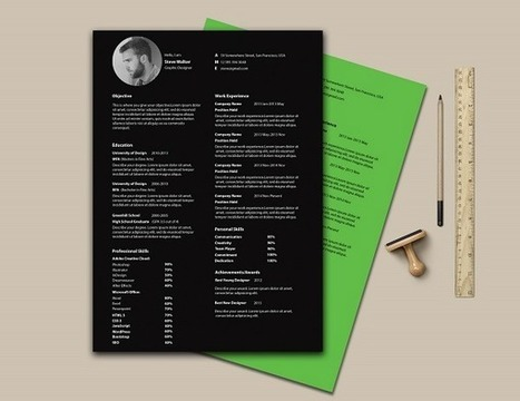 Free Ultra Minimal, One-Page Résumé Template Presents Information Elegantly - DesignTAXI.com | Public Relations & Social Media Insight | Scoop.it