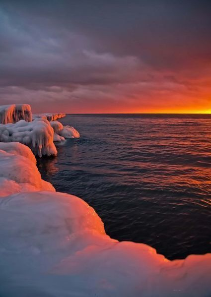 Sunset on Icy Shores | Life @ Work | Scoop.it