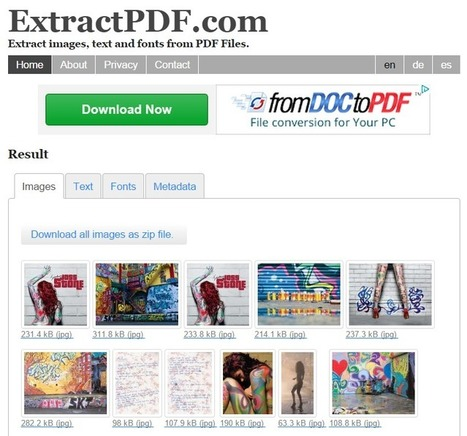 5 Tools to Extract Images From PDF Files | EDUCACIÓN 3.0 - EDUCATION 3.0 | Scoop.it