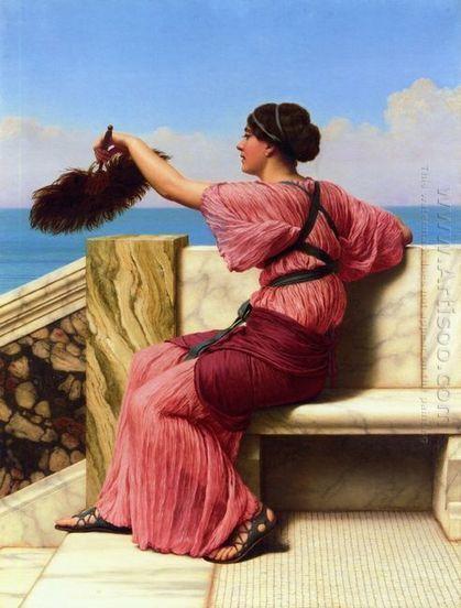 Oil painting reproduction: John William Godward The Signal - Artisoo.com | arts&oil | Scoop.it