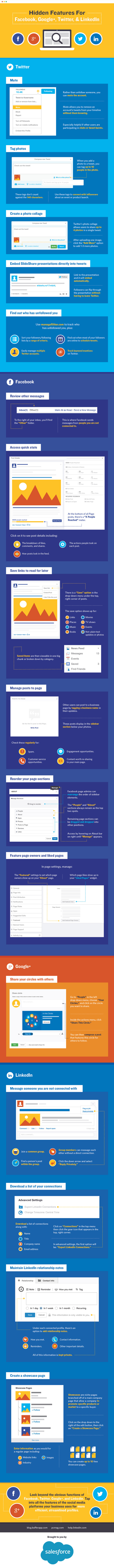 The Useful Features You Might Not Know About on Facebook, LinkedIn and More #Infographic | MarketingHits | Scoop.it