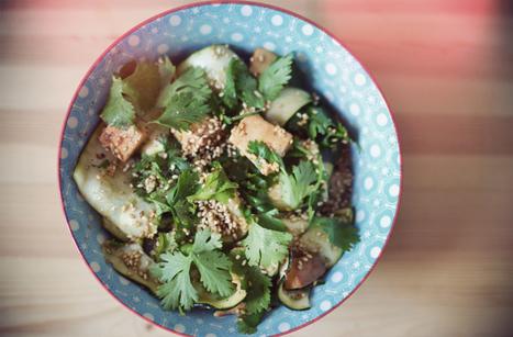 Salade asiatique, courgette et tofu | student-food | Recipes | Scoop.it