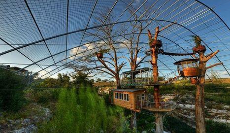 [Vacances] Des cabanes autonomes dans les arbres aux matériaux recyclée aux USA | Maison ossature bois écologique | Scoop.it