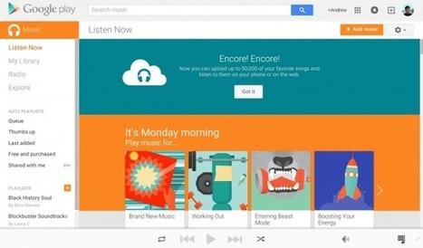 Google Play Music augmente son stockage à plus de 50 000 chansons | IT Corner | Scoop.it
