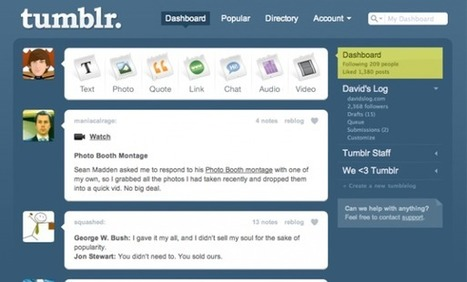 How Tumblr went from wee to webscale | GigaOm | Tumblr for Journalists | Scoop.it
