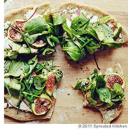 Rustic Fig and Goat Cheese Pizza Recipe | Neverending Healthy Recipes | Scoop.it