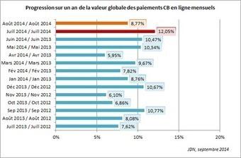 L'e-commerce croît de 12% en juillet et de 9% en août 2014 | #Commerce | Scoop.it