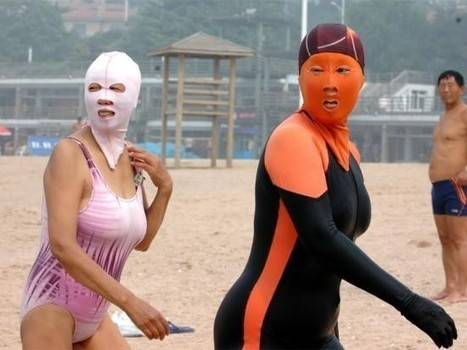 Remember the Facekini? Chinese Inventor Launches 4th Generation of Bizarre Anti-Tanning Mask | Strange days indeed... | Scoop.it