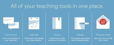 Lore, herramientas para que los profesores lleven sus clases a Internet.- | Entornos Personales de Aprendizaje | Scoop.it