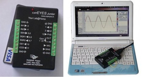 $35 expEYES Junior Transforms the Raspberry Pi, Aakash2 Tablet or any Linux Powered Device into an Electronics Lab | Embedded Systems News | Scoop.it