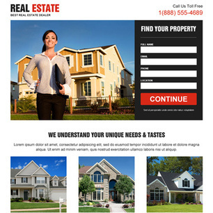 Real estate landing page design templates for real estate agents and broker business conversion. | Marketing | Scoop.it