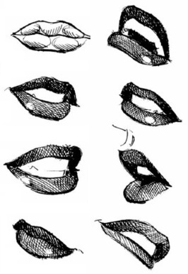 Female Mouth Drawing Reference | Drawing References and Resources | Scoop.it