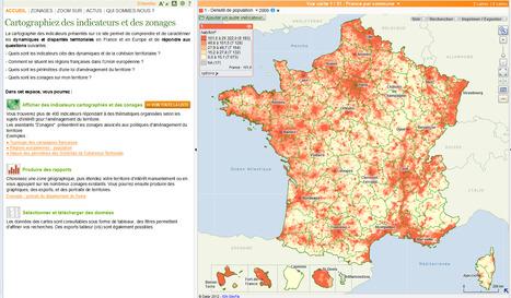 Mise en ligne du nouvel espace cartographique de l'Observatoire des territoires de la DATAR | Portail de veille en Géomatique de l'ADEUPa | Scoop.it