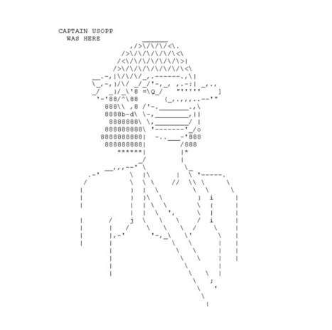 Usopp Ascii | ASCII Art | Scoop.it