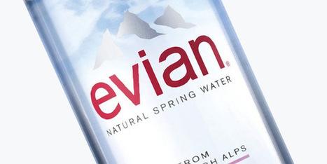 Le nouveau design des bouteilles Evian   Identité visuelle   Scoop.it
