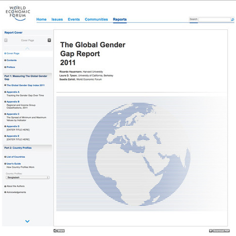 The Global Gender Gap Report 2011 | Business and Economics: E-Learning and Blended Learning | Scoop.it