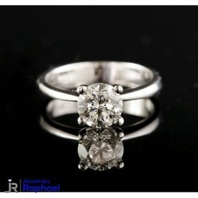 1.51 Carat D SI3 100% Natural Round Diamond CT Non Enhanced set in 14K WG 4 Prong Ring 7.14 mm Grand Opening Sale Prices!!! | jewelrybyraphael | Scoop.it