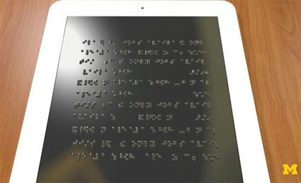 Handicap – Une tablette en braille bon marché pour les malvoyants | CaféAnimé | Scoop.it