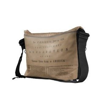 Declaration of Independence Messenger Bag from Zazzle.com | American History Fun Facts | Scoop.it