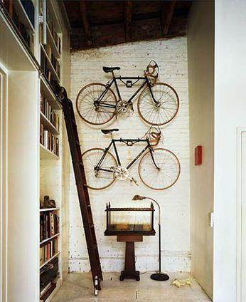 Ranger un vélo dans un appartement | Astuces pratiques Déco | Scoop.it