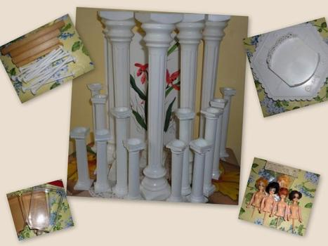 Wedding cake roman columns, pillars lot | Candy Buffet Weddings, Events, Food Station Buffets and Tea Parties | Scoop.it