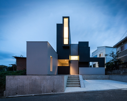 Architecture atypique pour cette maison contemp for Architecture japonaise moderne