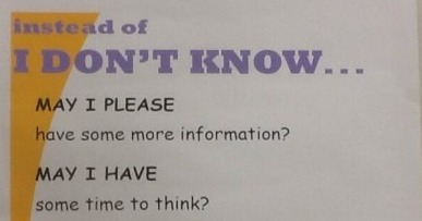 5 Better Ways To Say 'I Don't Know' In The Classroom | EFL Teaching Journal | Scoop.it